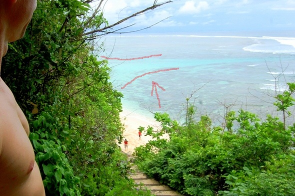 Green Bowl Beach - вид со спуска