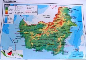 Карта острова Калимантан
