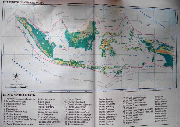 Общая карта Индонезии