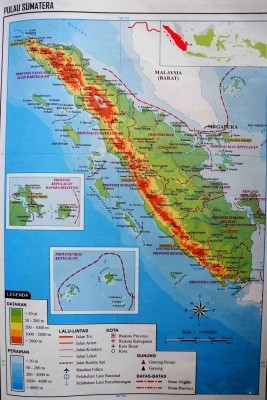 Общая карта острова Суматра