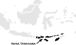 Nusa Tenggara на карте Индонезии